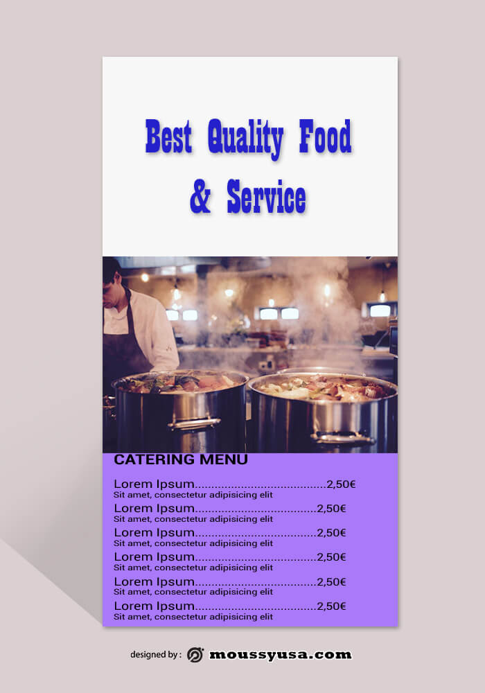 Catering Rack Card Template Sample