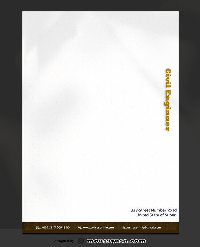 Civil Enginner Letterhead Template Sample