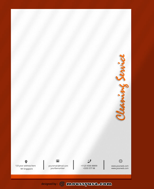 Cleaning Service Letterhead Template Design