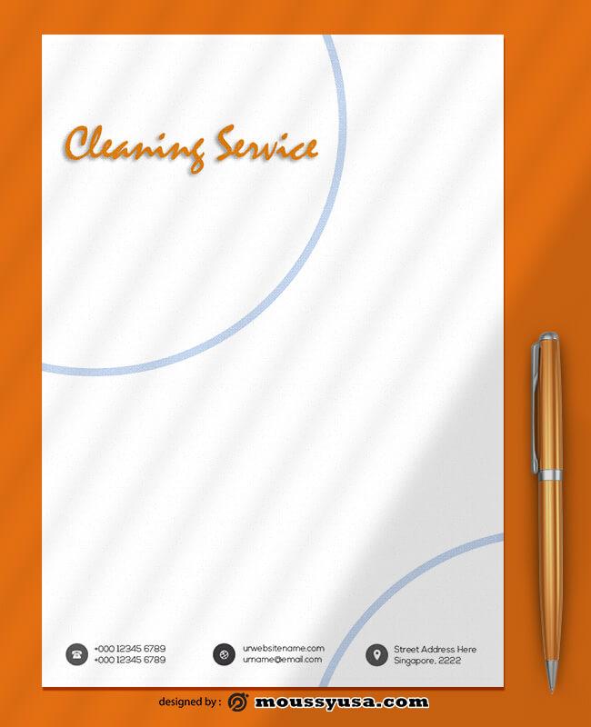 Cleaning Service Letterhead Template Ideas