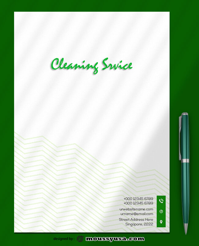 Cleaning Service Letterhead Template Sample