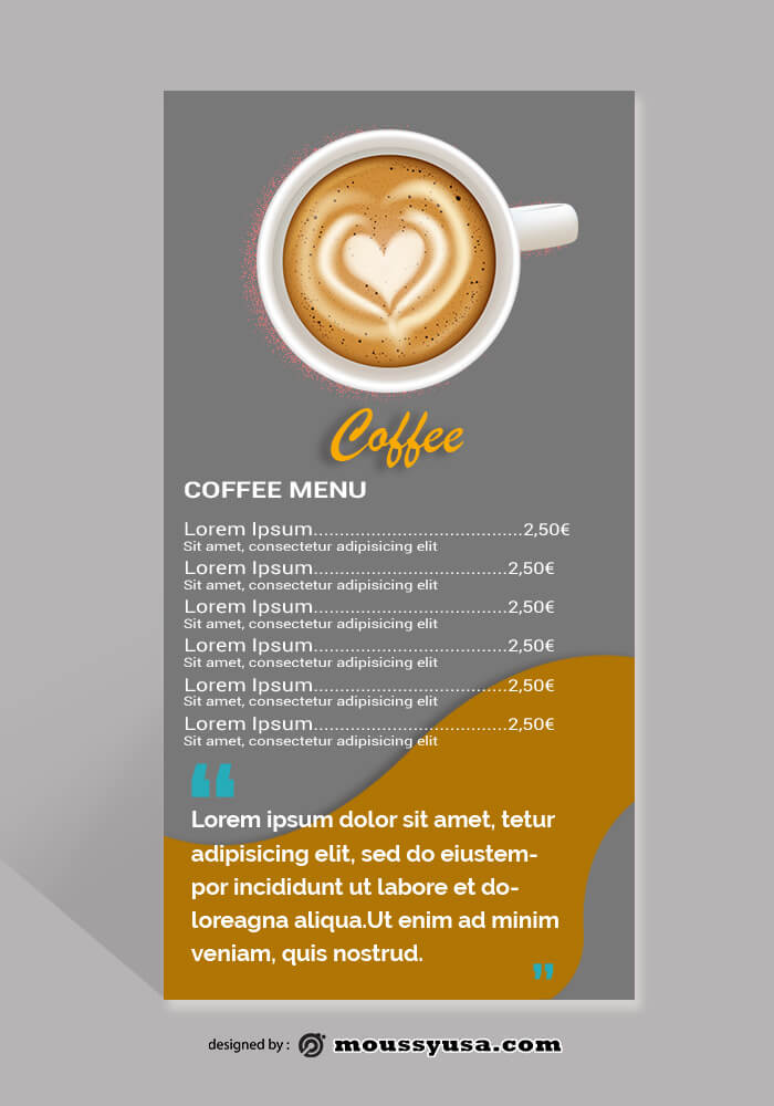 Coffee Shop Rack Card Design Ideas