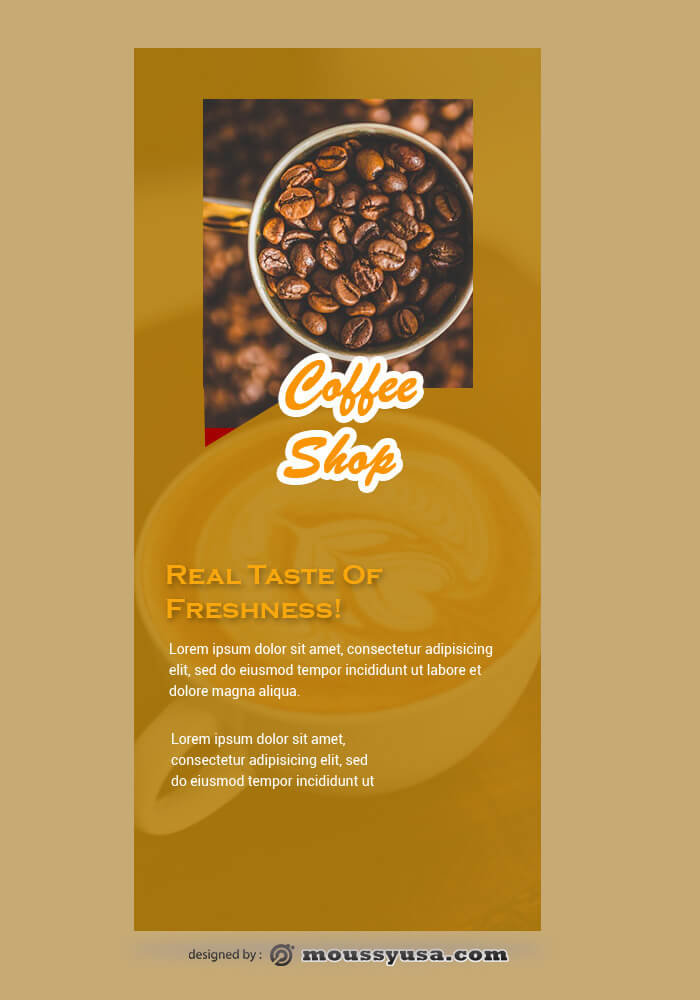 Coffee Shop Rack Card Template Sample
