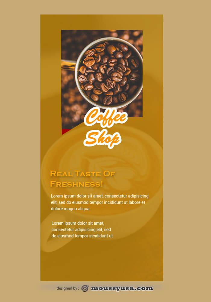 Coffee Shop Rack Card Template Sample