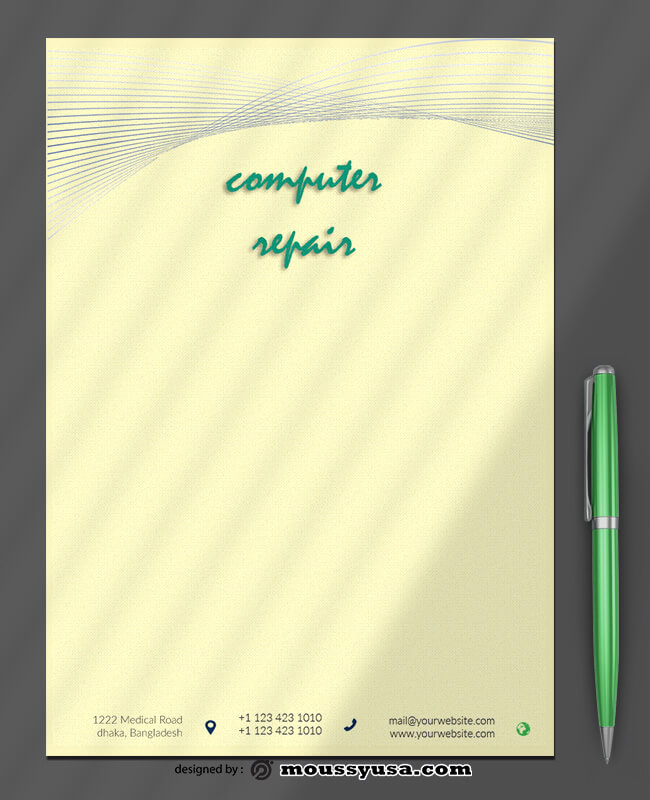 Computer Repair Letterhead Template Sample
