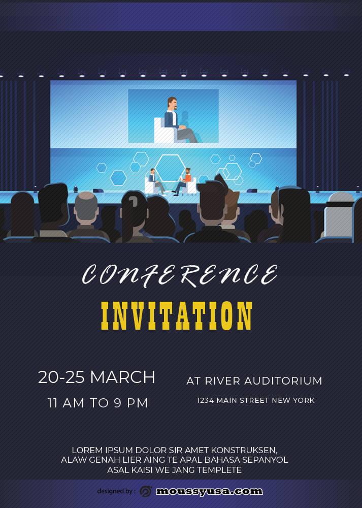 Conference Invitation Design PSD
