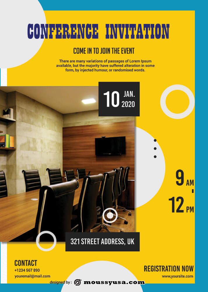Conference Invitation Template Example