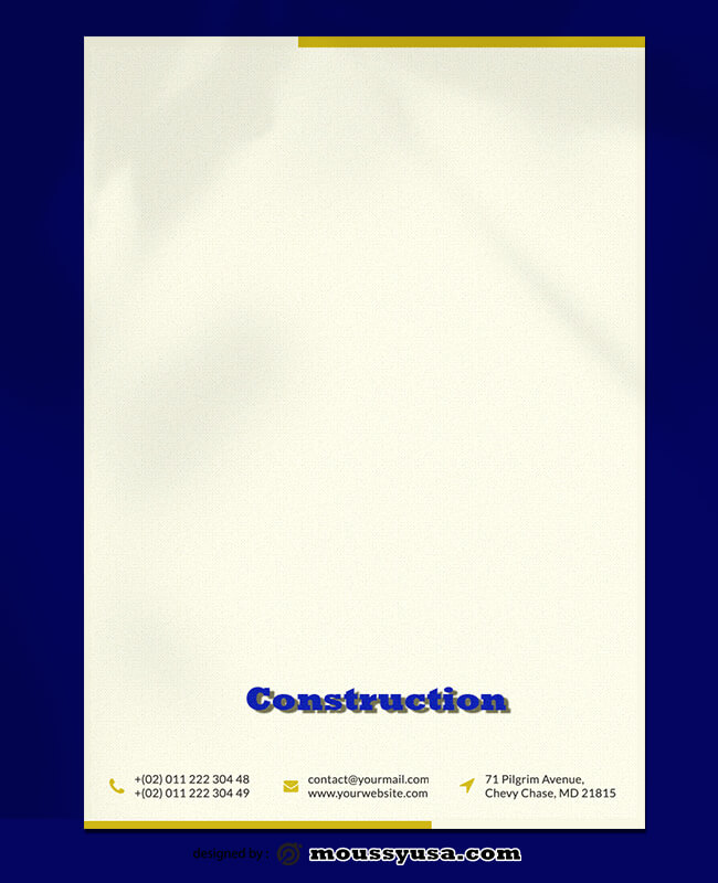 Construction Letterhead Template Ideas