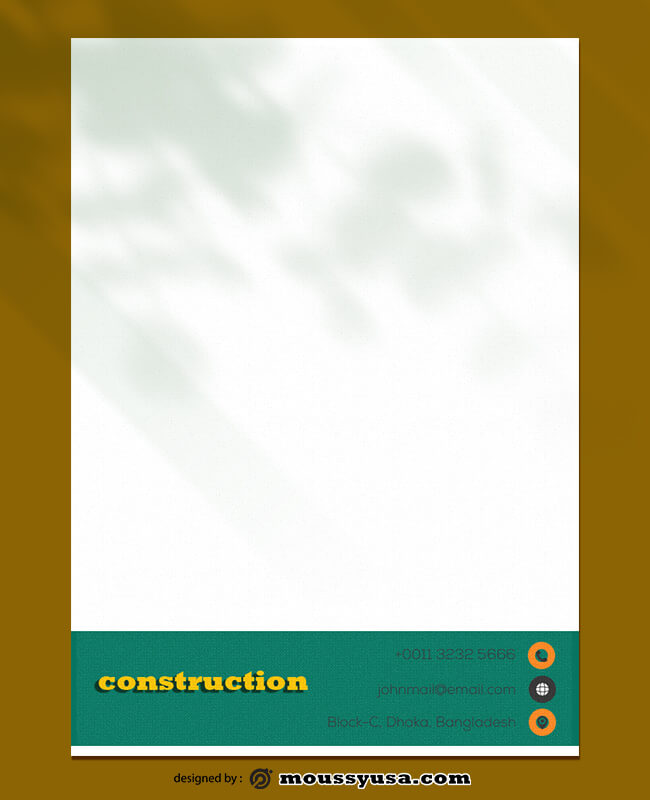 Construction Letterhead Template Sample