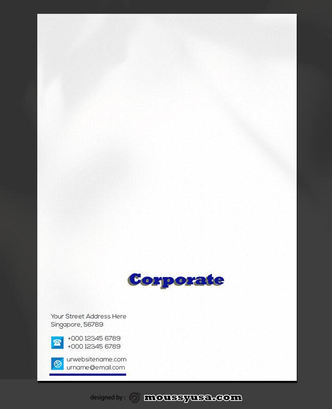 Corporate Letterhead Template Ideas