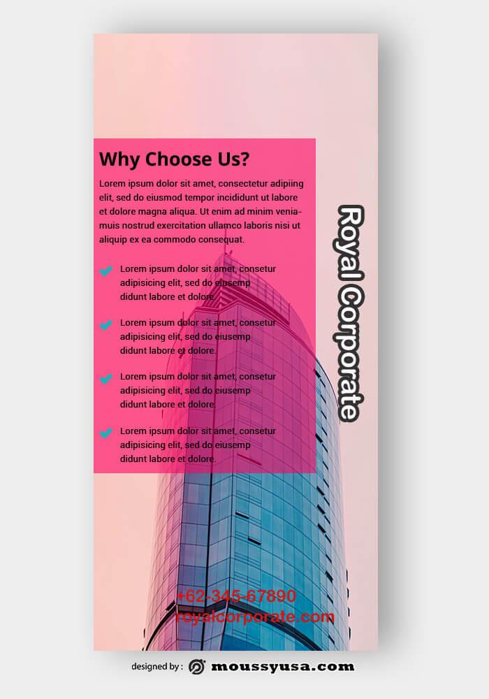 Corporate Rack Card Design PSD