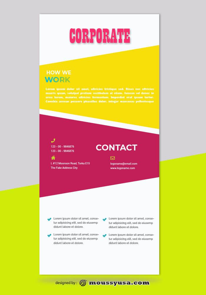 Corporate Rack Card Design Template