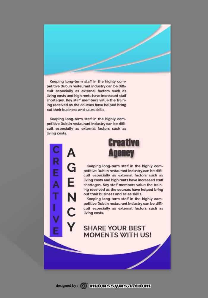 Creative Agency Rack Card Template Design