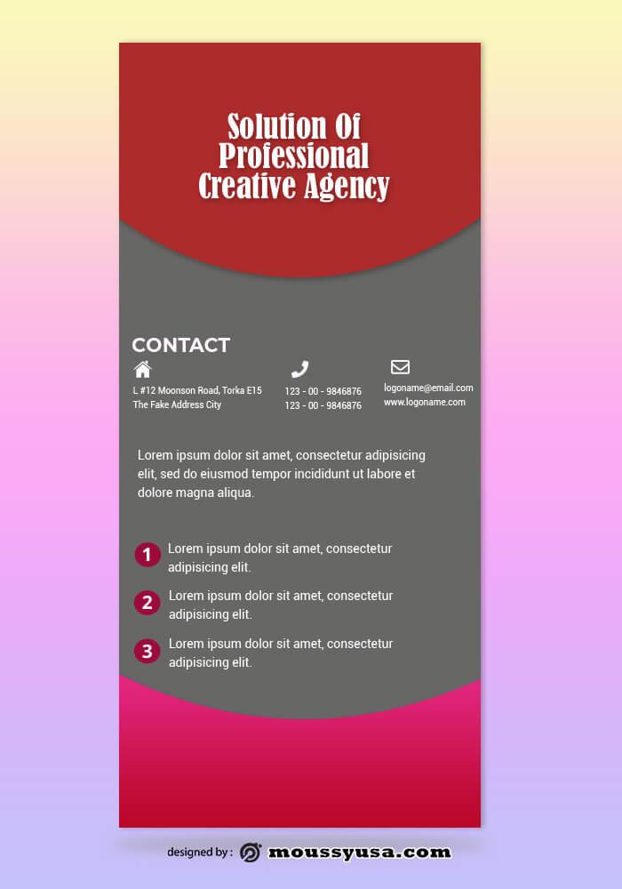 Creative Agency Rack Card Template Example