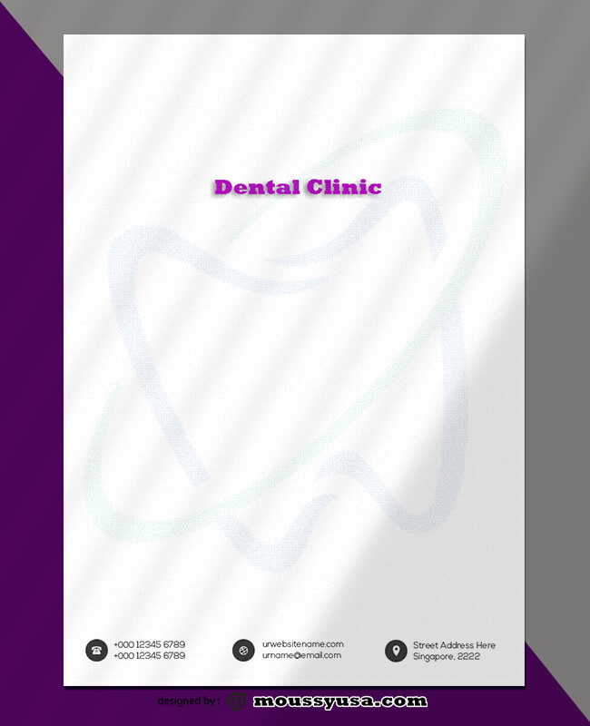 Dental Clinic Letterhead Template Design
