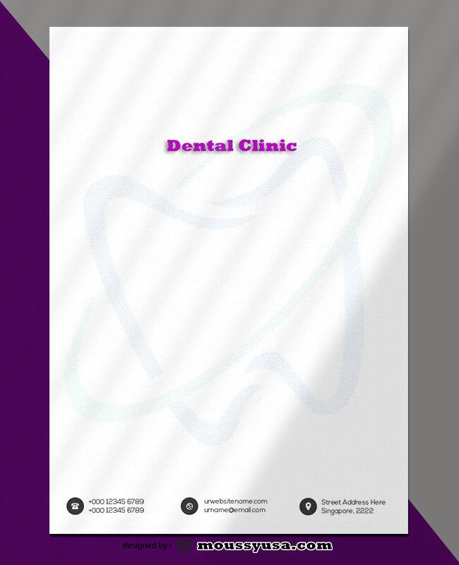 Dental Clinic Letterhead Template Design