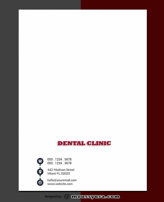 Dental Clinic Letterhead Template Example