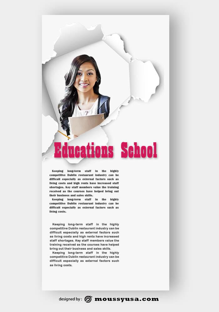 Education Rack Card Design PSD