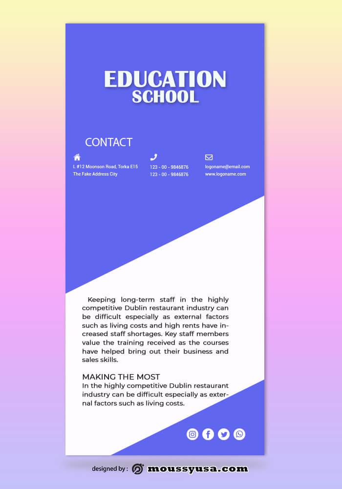 Education Rack Card Design Template