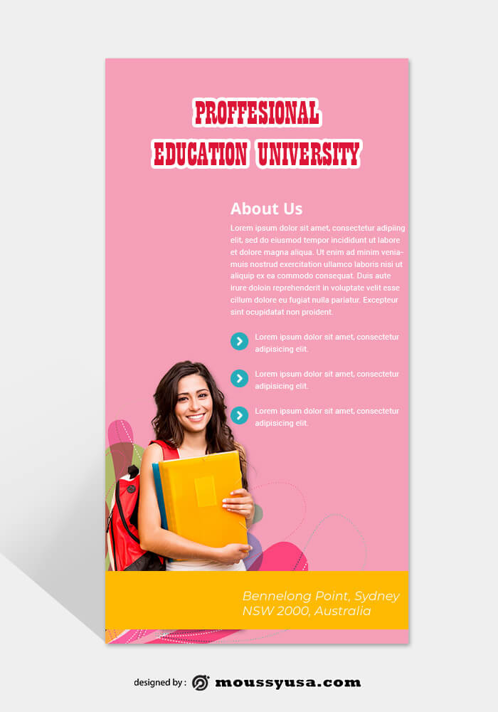 Education Rack Card Template Example