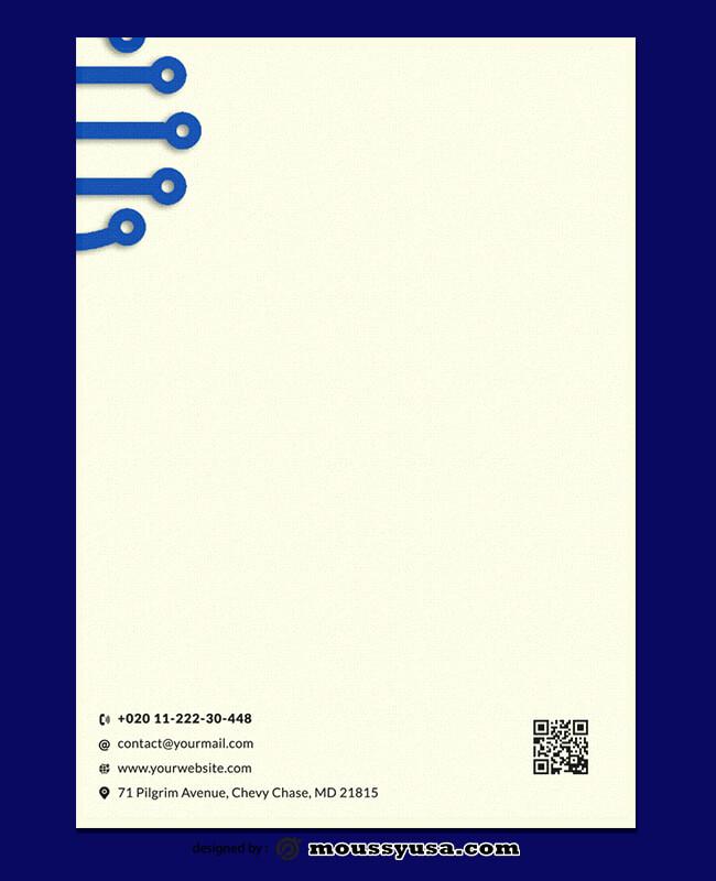 Electronic Letterhead Design PSD
