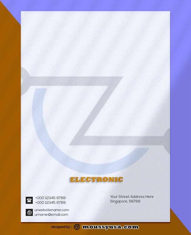 Electronic Letterhead Design Template