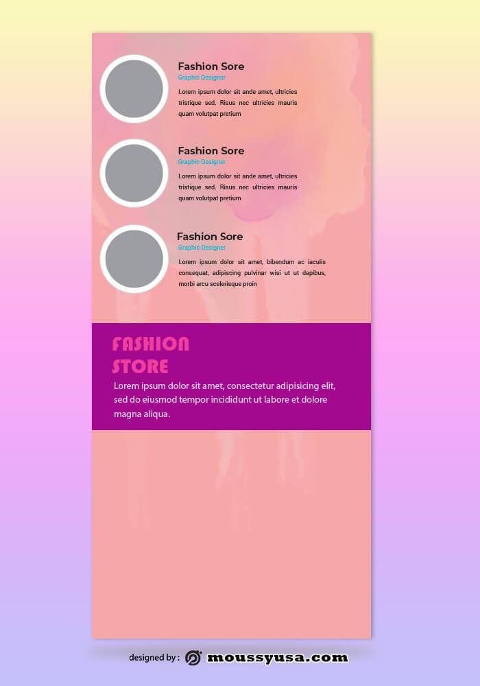 Fashion Rack Card Design PSD