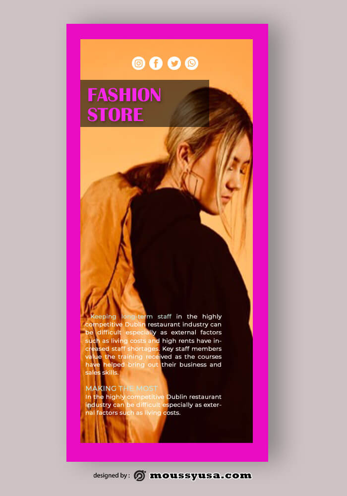 Fashion Rack Card Template Example