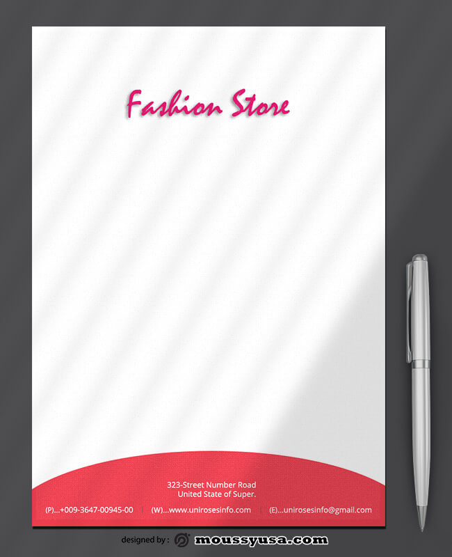 Fashion Store Letterhead Design Ideas