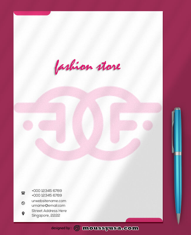 Fashion Store Letterhead Design Template