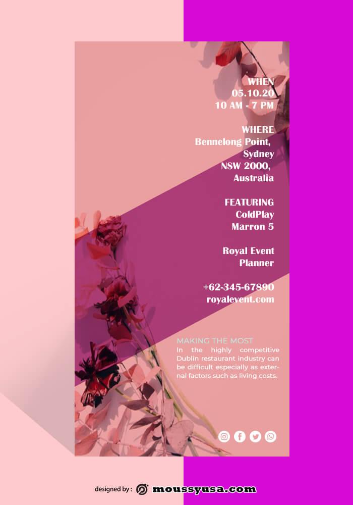 Flower Shop Rack Card Design Ideas