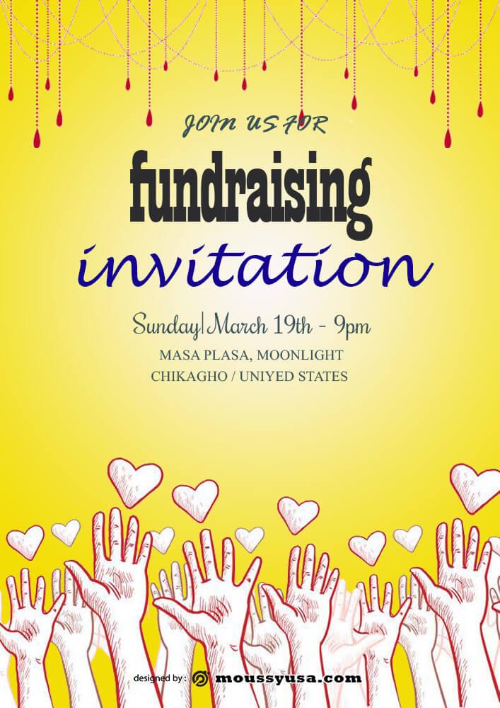 Fundraising Invitation Design PSD
