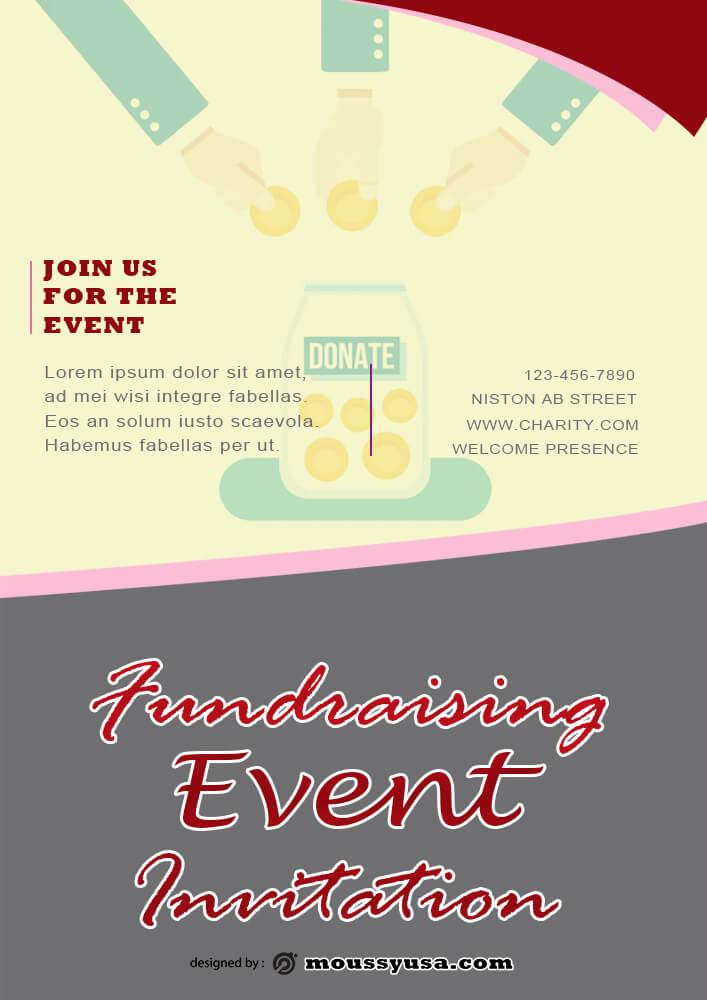 Fundraising Invitation Design Template
