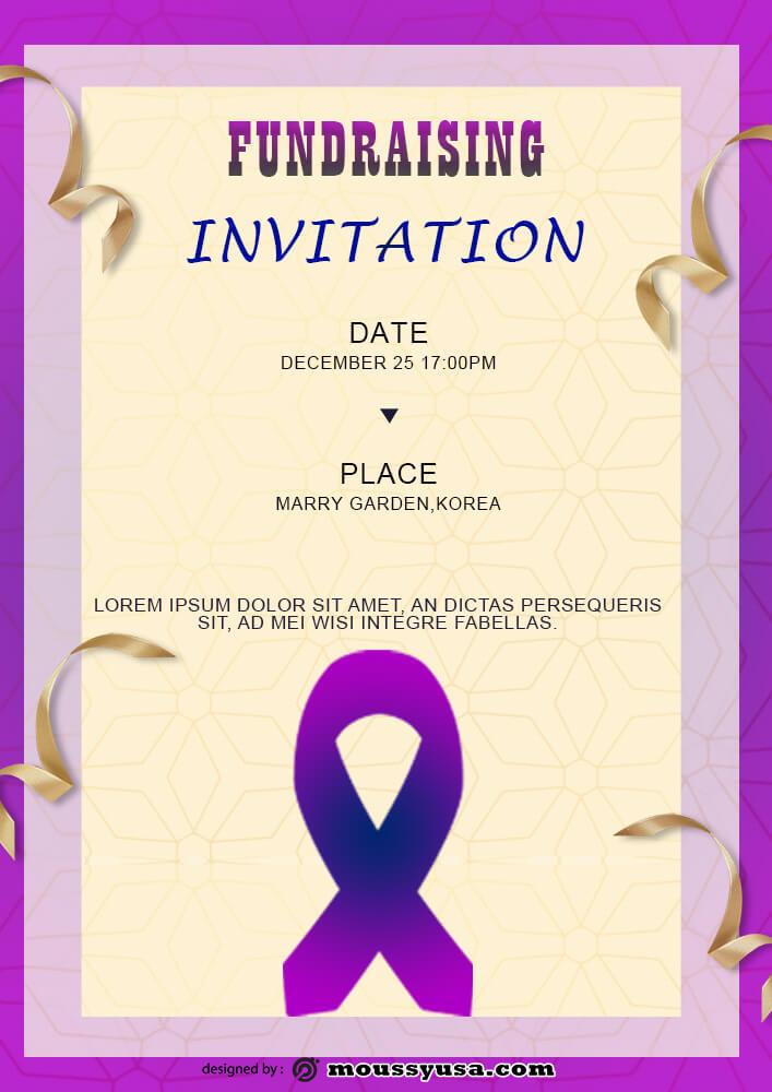 Fundraising Invitation Template Example