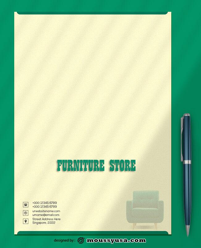 Furniture Store Letterhead Template Ideas