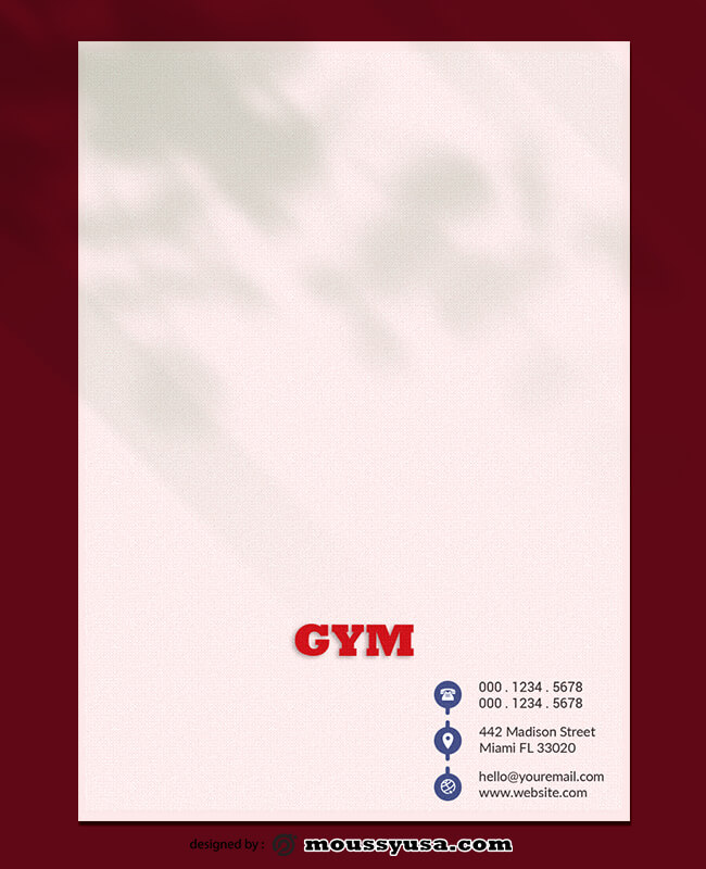 GYM Letterhead Design Ideas