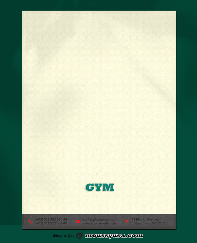 GYM Letterhead Design PSD
