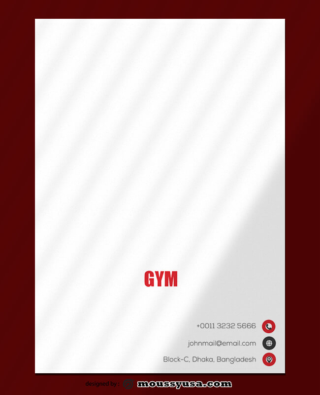 GYM Letterhead Design Template