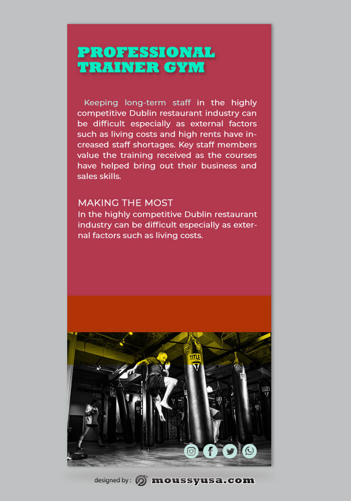 GYM Rack Card Design Template