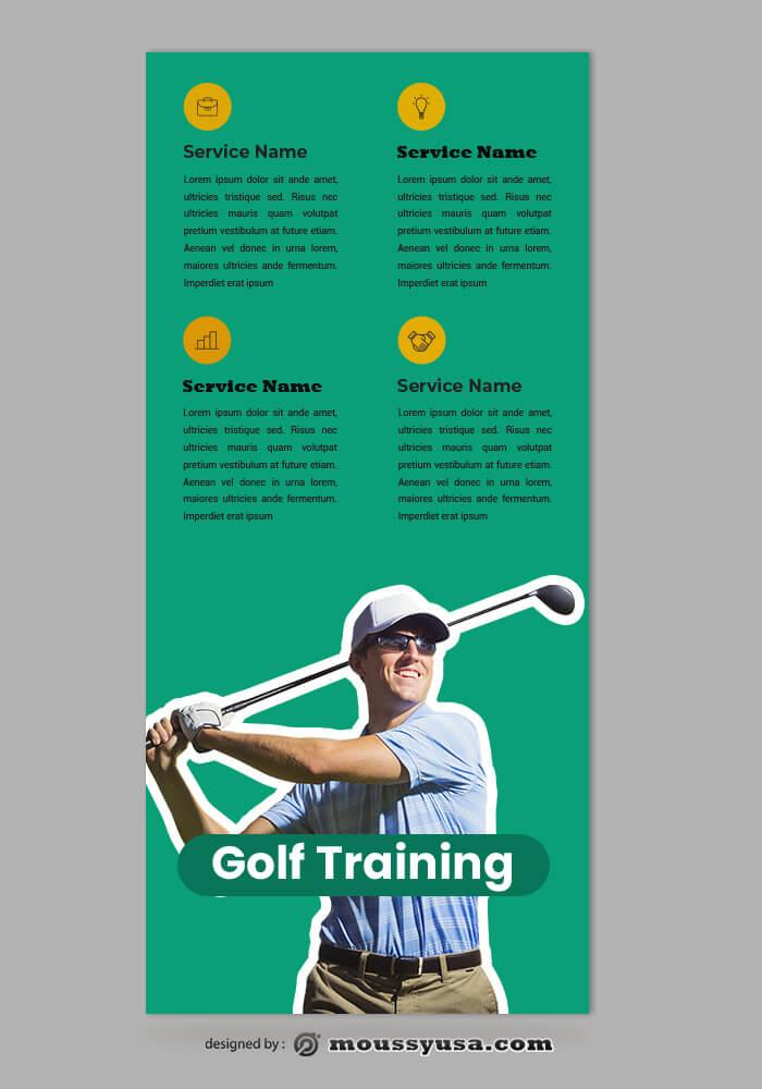 Golf Rack Card Templates Design