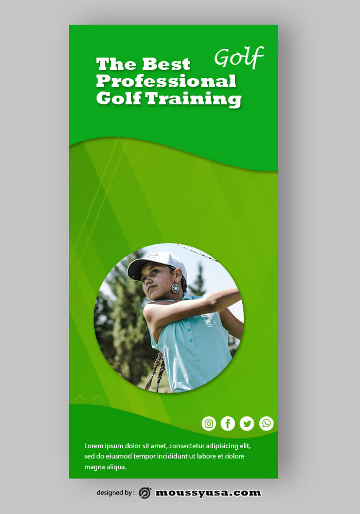 Golf Rack Card Templates Ideas