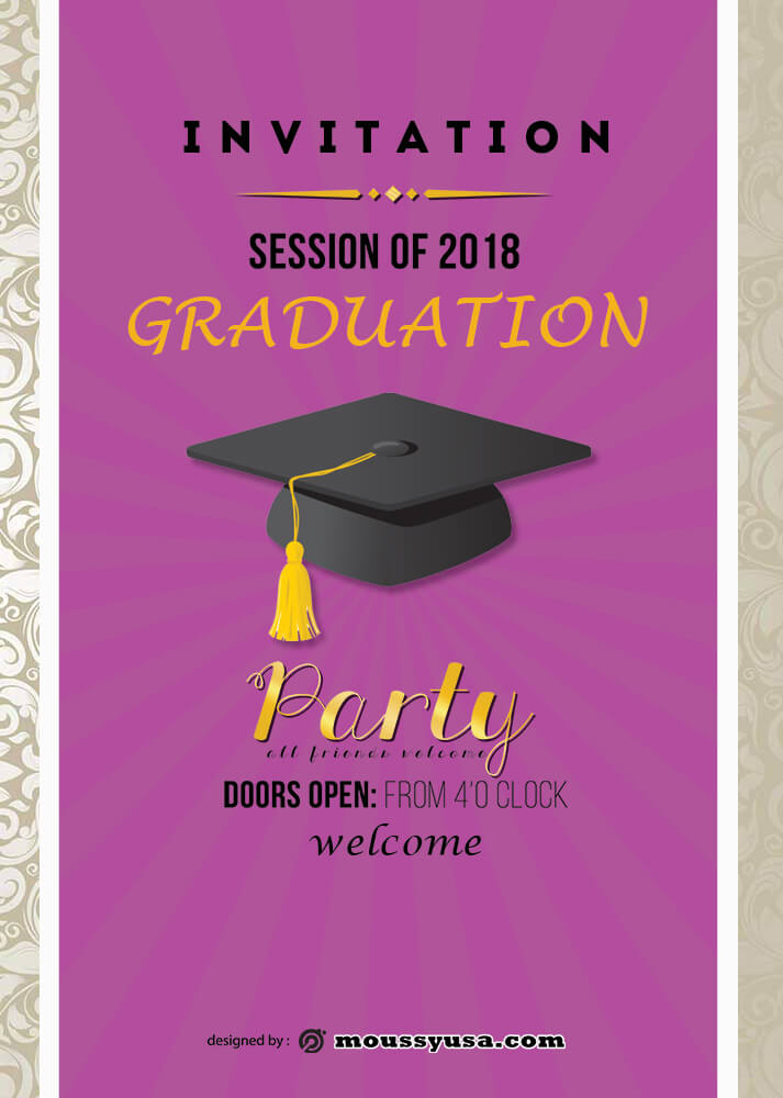 Graduation Invitation Design Template