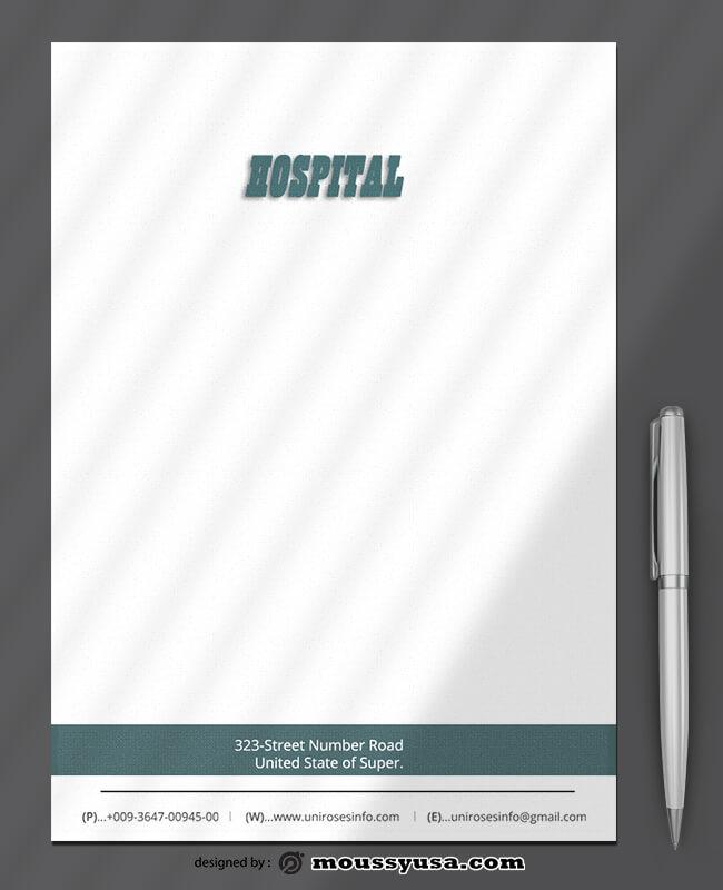 Hospital Letterhead Design PSD