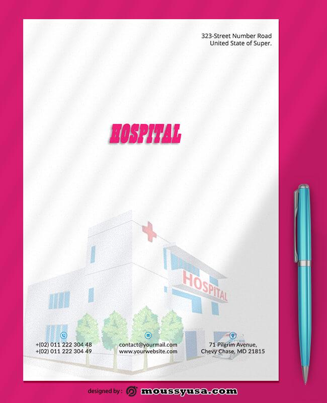 Hospital Letterhead Design Template