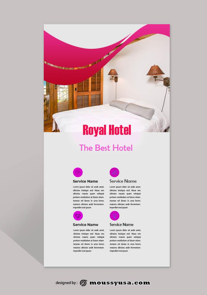 Hotel Rack Card Design PSD