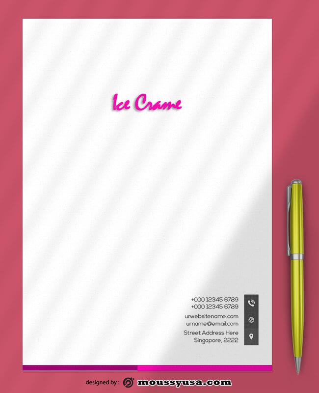 Ice Crame Letterhead Template Ideas