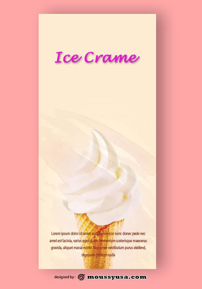 Ice Crame Rack Card Design Template