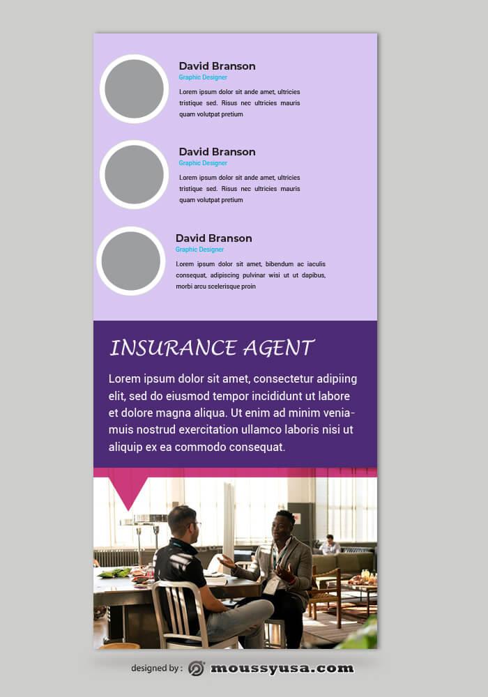 Insurance Agent Rack Card Template Sample