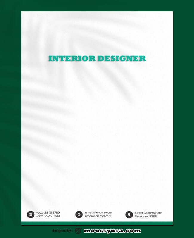 Interior Designer Letterhead Template Design