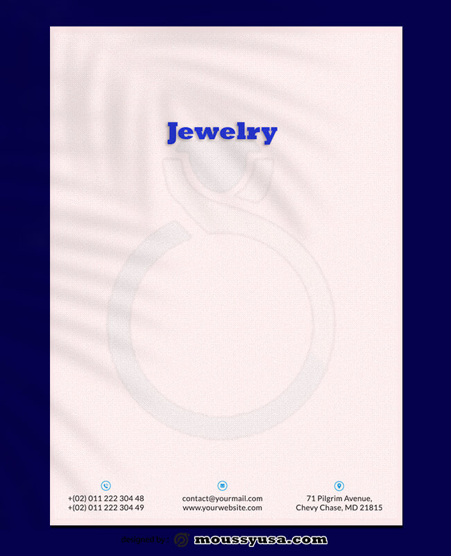Jewelry Letterhead Templates Design